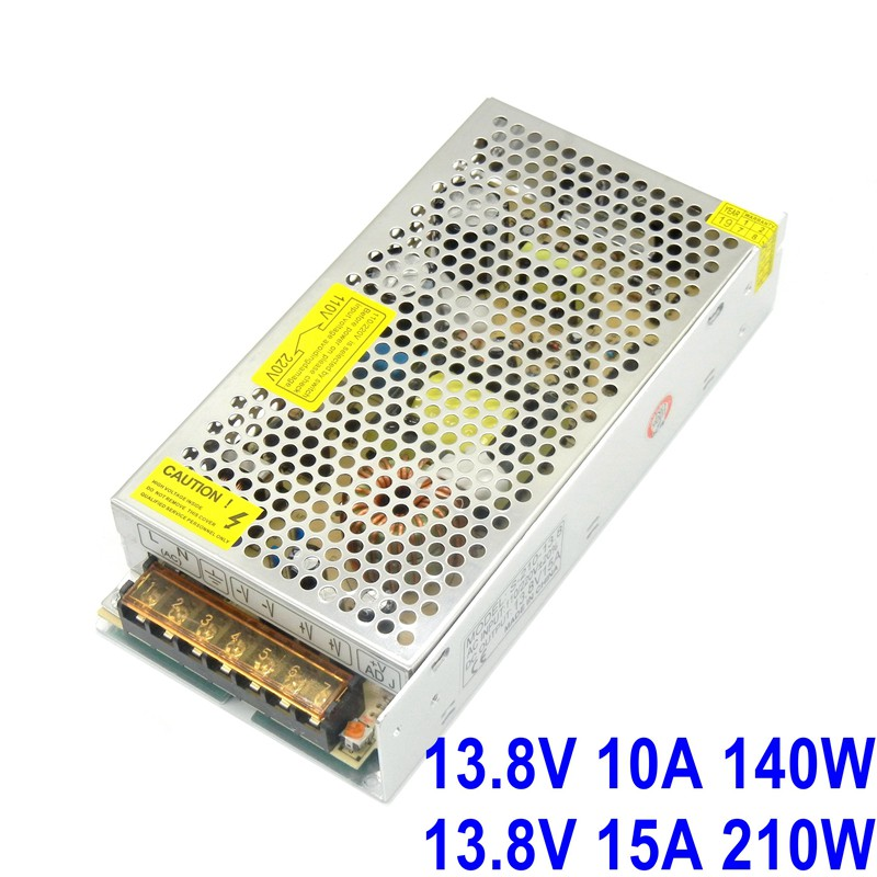 13.8V 10A 15A Switching power supply 140W 210W input 110V 220V ac to dc for LED monitoring security intercom access control