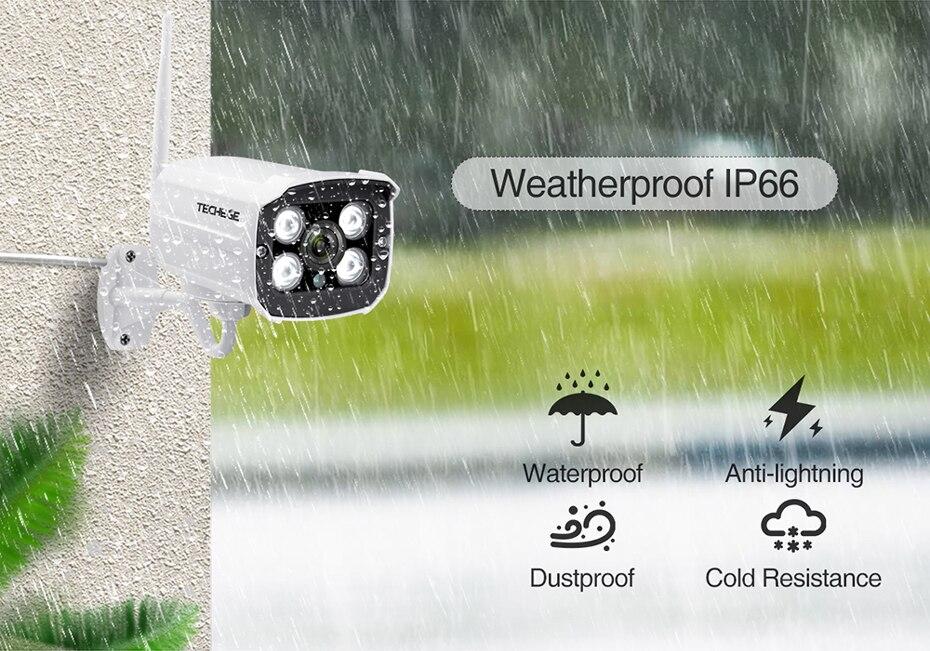 H21cba5f02c4b467e9807f46a663502d4m Techege HD 1080P Wireless SD Card Slot Audio IP Camera 2.0MP wifi Security Camera Night Vision Metal Waterproof Outdoor Camera