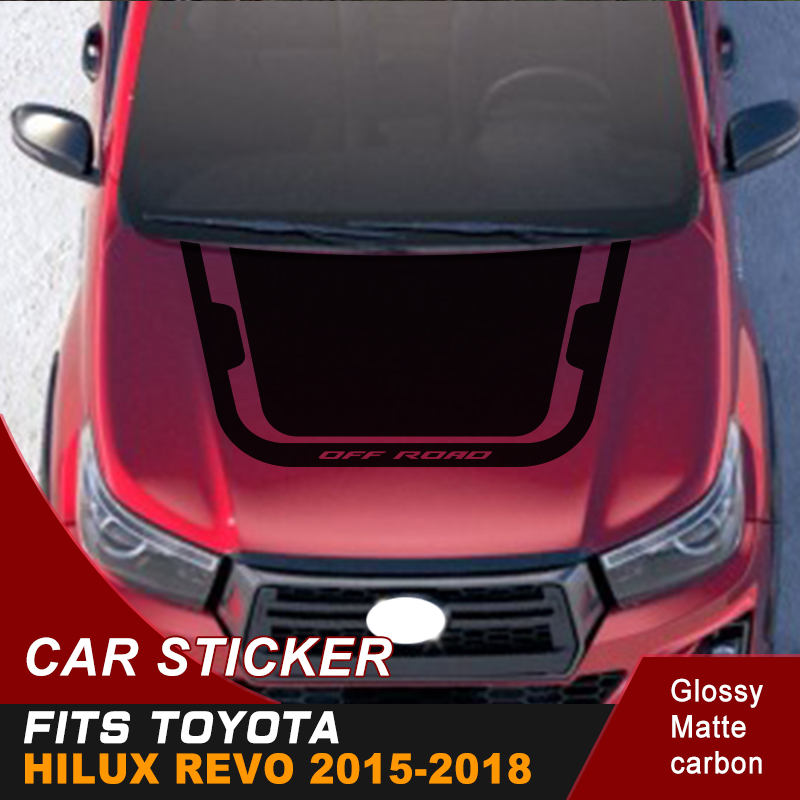 Car Sticker 1 Piece Hood Vinyl Graphics Fit For Toyota Hilux Revo Free Shipping