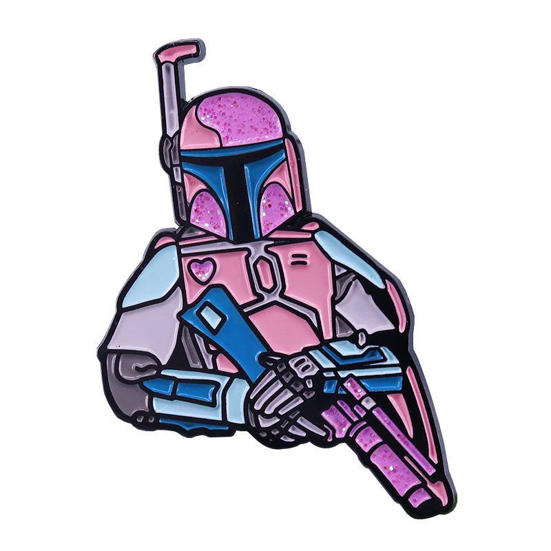 Pastel Boba Fett Lapel Pin Glitter Edition Star Wars Fans Perfect Collection