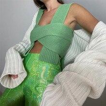 FANTOYE – pull-over court tricoté sans manches pour femme, gilet d'extérieur, à la mode, nouvelle collection été, Y2K