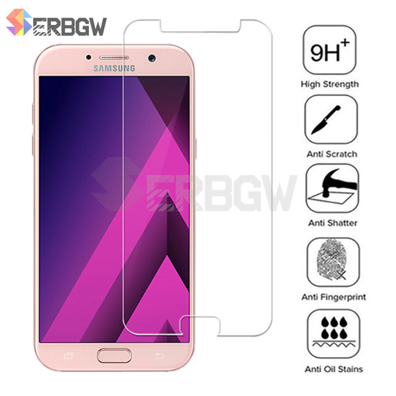 9H Protective Glass On For Samsung Galaxy A3 A5 A7 J3 J5 J7 2015 2016 2017 A6 J6 A8 Plus A9 2018 Tempered Glass Screen Protector
