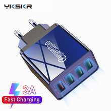 EU/US Plug Quick Charge 3.0 USB Charger Mobile Phon
