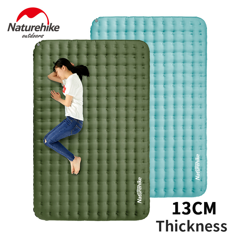 Naturehike TPU Inflatable Mattress Sleeping Pad 13cm Thicken Outdoor Camping Portable Ultralight 2 Persons Sleeping Mat Air Bed