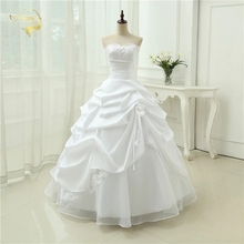 Wedding-Gown 2043 Plus-Size Sequins Applique Sweetheart White Casamento A-Line No Vestido-De-Noiva