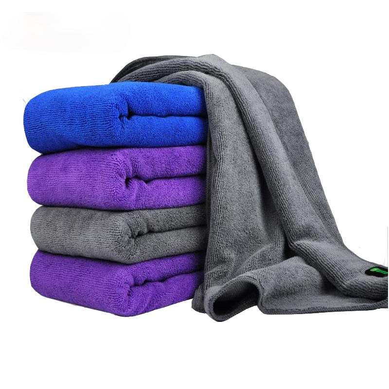 30x70 CM Car Wash Microfiber Towel Car Cleaning Drying Cloth Hemming Car Care Cloth Detailing Car Wash Blue purple/gray Towel