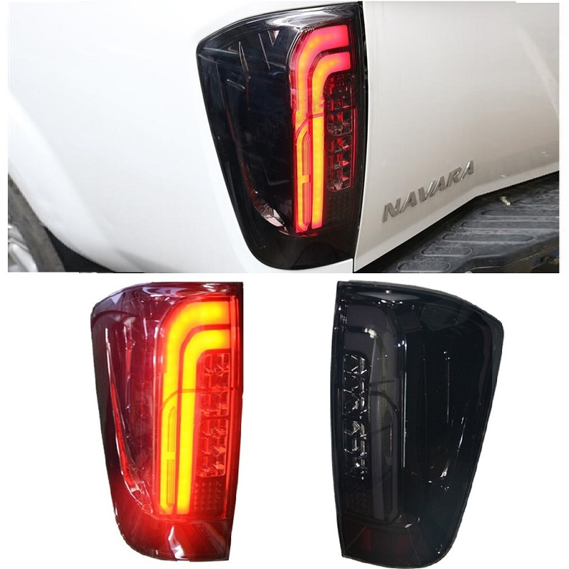 EXTERIOR LIGHTS LED REAR LAMPS TAIL LAMP REAR LIGHTS FIT FOR <font><b>NISSAN</b></font> <font><b>NAVARA</b></font> <font><b>NP300</b></font> 2015-18 PICKUP CAR LAMPS LIGHTTING image