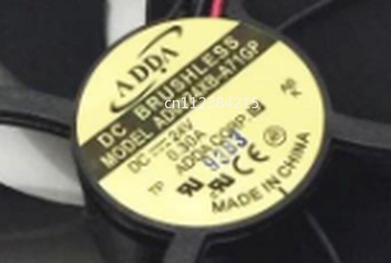 Free Shipping AD0924XB-A71GP DC 24V 0.30A 92x92x25mm 2-wire Server Cooler Fan