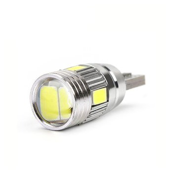 Car Light Bulb 10 Pcs 5630 6smd W5w Car 12v Led Tail Brake Rear Light Lamp Car Led Light Canbus Wedge Bulb Lamp Hot Hot image