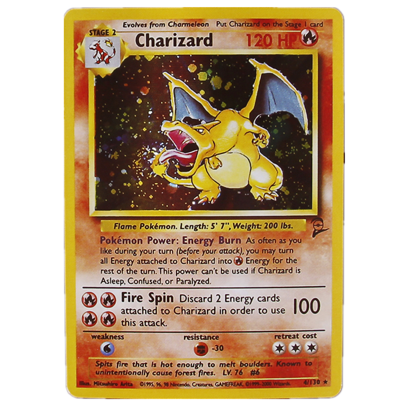 Hot Sale TOMY 5pcs/set Pokemon Charizard Blastoise Venusaur Mewtwo Mew MEGA Flash Cards Pokemons Game Collection Trading Card