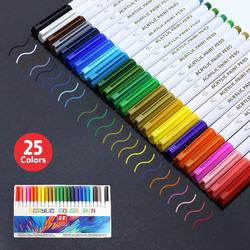 21/25 Color Permanent Acrylic Paint Marker Pens for Fabric Canvas , Art Rock Painting, Card Making, Metal and Ceramics, Glass