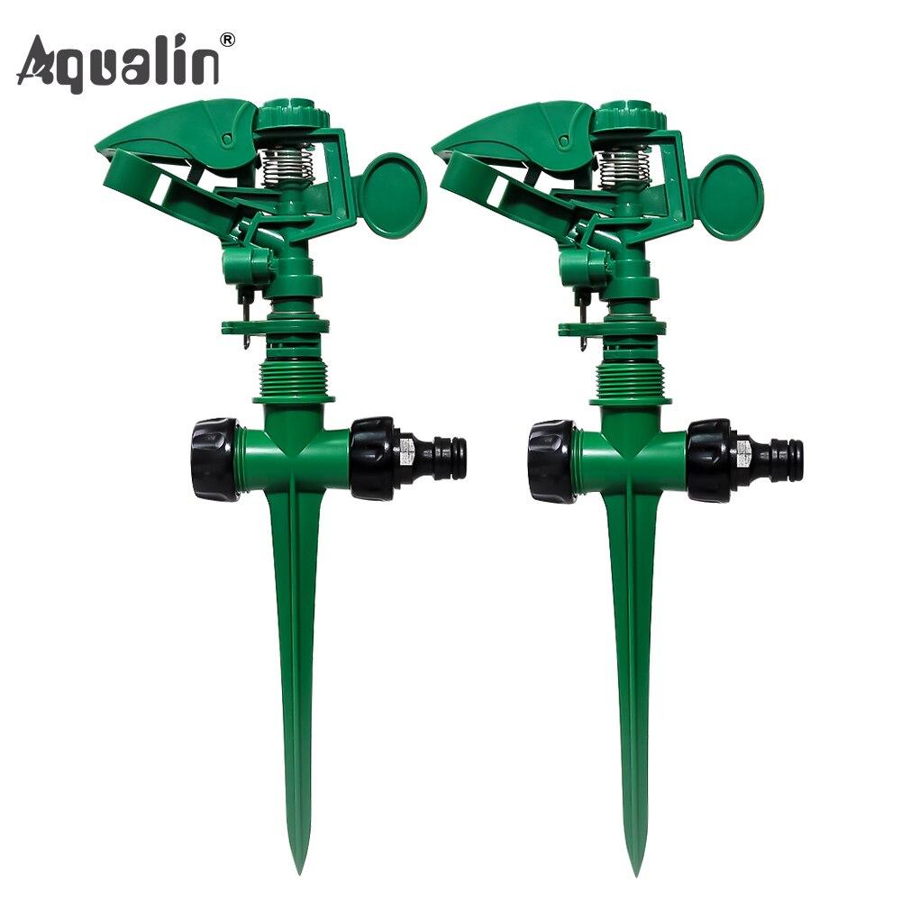 2pcs/lot Garden Sprinkler 360 Degree Adjustable  Lawn Grass Rotatable Sprayer Irrigation Garden Watering System#24015