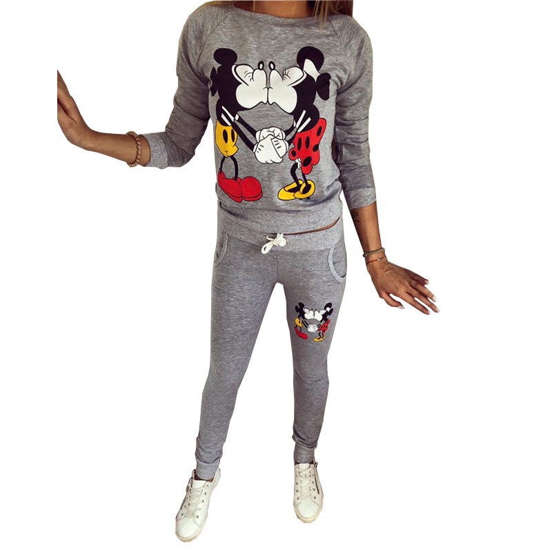 Cross Border AliExpress 2018 Hot Selling Autumn And Winter WOMEN'S Dress Kiss Printed Long Sleeve Casual Sports Clothing Hoodie
