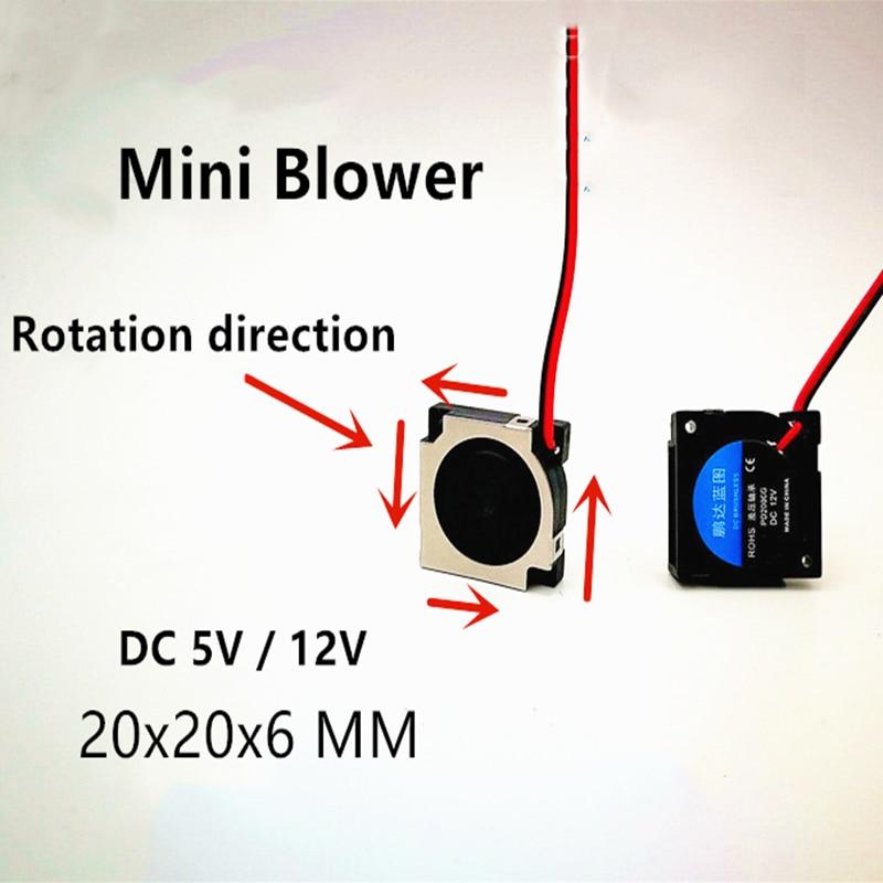 NEW 2006 5v 12v 2CM 20MM Fan 20*20*6MM Blower Fan 11000RPM Ultrathin Fan Mini Laptop Fan 2wire
