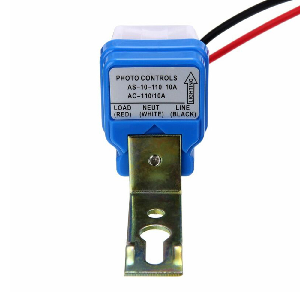 Automatic On Off Photocell Street Lamp Light Switch Controller DC AC 110V 50-60Hz 10A Photo Control Photoswitch Sensor Switch