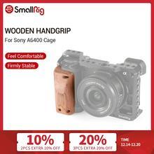 مولتلاعب a6400 هيكل قفصي الشكل للكاميرا مقبض خشبي قبضة لسوني A6400 قفص الإفراج السريع مقبض خشبي 2318