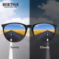 BERTHA Polarized Photochromic Sunglasses For Men Women 2020 New Simple Sun Glasses Fashion Oval Style Frame Eyewear BS3102
