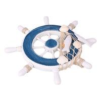 Drewniane łodzi koła Nautical ster plaży wiszące dekoracje ścienne narzędzia ogrodnicze w Figurki i miniatury od Dom i ogród na