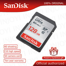 SanDisk Ultra 32GB 16GB 64GB 128GB Class 10  SD card SDHC SDXC Memory Card C10 80MB/s carte sd Support Official Verification