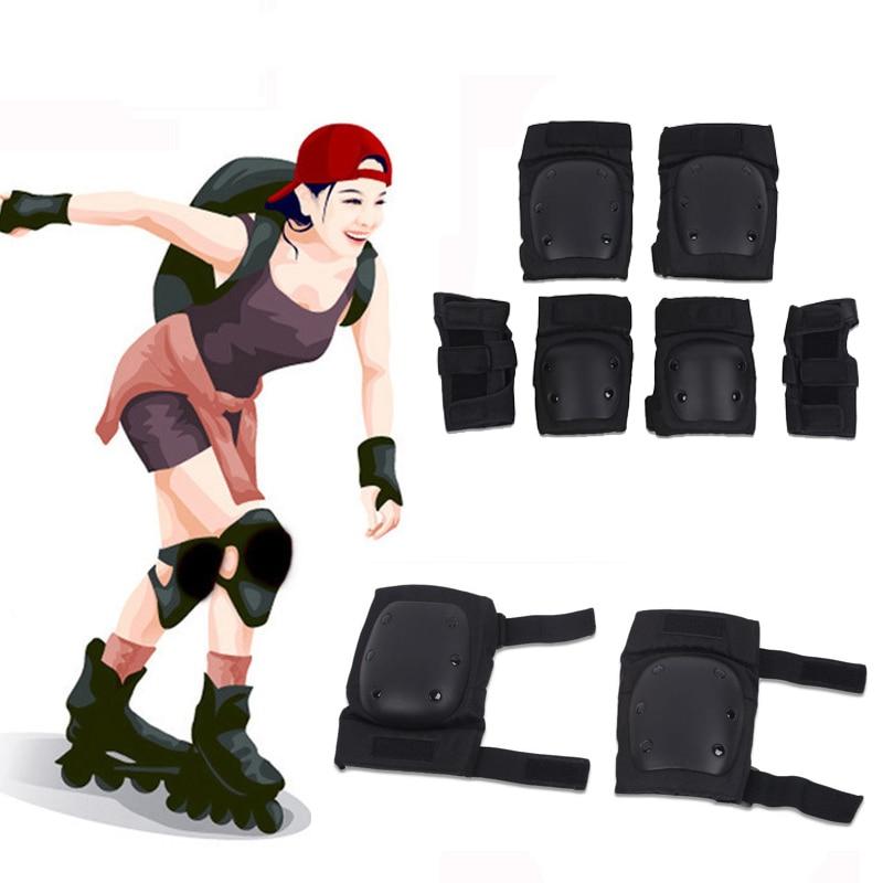 6 шт./компл. Скейтбординг протектор катание на коленную чашечку защита рук спортивные уличные