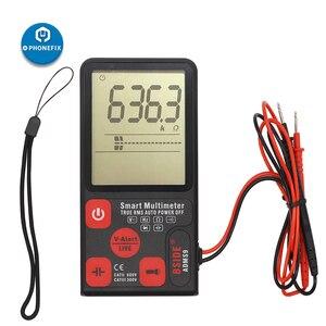 "Image 4 - Adms9 display lcd automático multímetro digital 3.5 ""lcd 3 line display voltímetro ac dc tensão ncv resistência ohm hz tester"