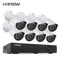 H. View 8CH CCTV система 1080P HDMI AHD 8CH CCTV DVR 8 шт. 2,0 MP IR камера безопасности 1200 TVL CCTV камера видеонаблюдения