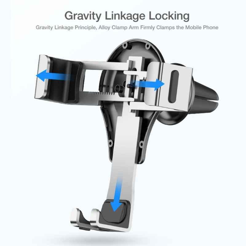Гравитационный Автомобильный держатель для телефона, держатель на вентиляционное отверстие, подставка для автомобиля, без магнита, автомобильный держатель для мобильного телефона, смартфон, поддержка сотового телефона для iPhone 11 pro