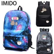 Imido рюкзаки с милым котом для школьниц вместительный рюкзак