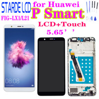 New for Huawei P Smart FIG-LX1/L21 LCD Display Touch Screen Digitizer Panel Assembly with Frame  P Smart ENJOY 7S LCD