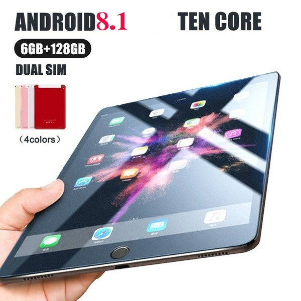 Andriod 8.0 Ten Core 10 Inches Screen New Original Dual SIM 4G Phone Tablet PC Mic WIFI 6G + 128GB Tablet  Dual Camera GPS Phone