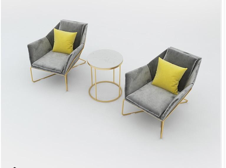 Nordic Shop Sofa Chair Designer Light Luxury Beauty Salon Small Sofa Net Red Casual Clothing Shop Single Sofa