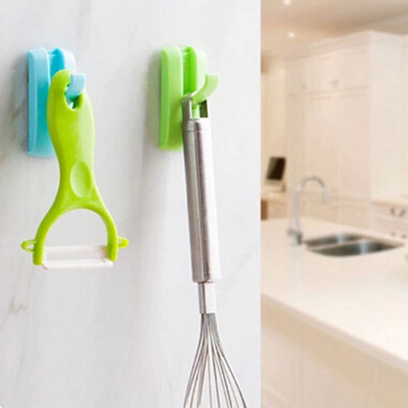 Self Adhesive Towel Clothes Door Hook Multifunction Fold Collapsible Wall Mounted Hidden Hanger 1PC Home Office Rack