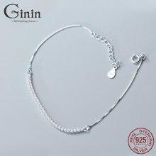 Ginin сверкающий Циркон 925 стерлингового серебра браслет для
