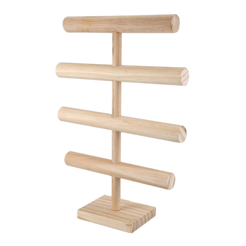 4 Tiers T Bar Jewelry Stand Rack Solid Wooden Jewellery Display Holder For Bracelet Watch Bangle Hair Hoop Jewelry Packaging Display Aliexpress