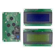 LCD2004 + I2C 2004 20X4 2004A Blauw/Groen Scherm HD44780 Karakter Lcd/W Iic/I2C seriële Interface Adapter Module Voor Arduino