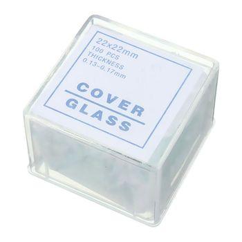 100 шт прозрачные слайды Coverslips Coverslides 22x22 мм для микроскопа