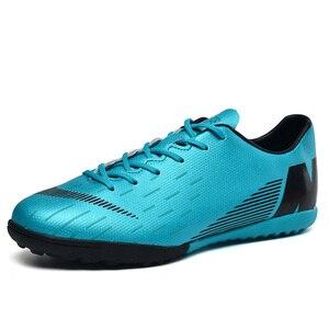 Image 4 - Fußball Schuhe Gebrochen Nägel Atmungsaktive Lace Up Tragen Dämpfung Nicht slip Low Mode Bequemen männer turnschuhe