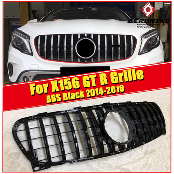 Fit For Mercedes X156 Sports grille grill ABS Gloss Black without Sign GLA Class GLA180 200 GLA45 Look Front Bumper Grills 14-16