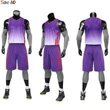 Мужской баскетбольный набор, набор униформы, спортивная одежда, баскетбольные майки, спортивные костюмы для колледжа, DIY Индивидуальные баскетбольные шорты