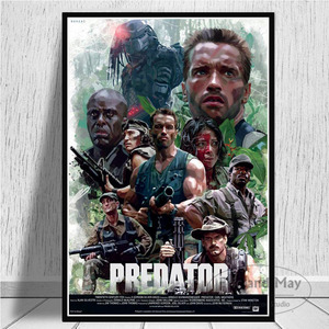 Hot Arnold Schwarzenegger The Predator Monster Movie Poster And Prints Art Canvas Wall Pictures For Living Room Home Decor