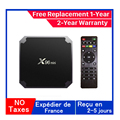 Лучший X96mini IP TV Box Android 9,0 Tv box 1G 8G 2G 16G медиаплеер x96 Amlogic S905W smart ip tv set top box Доставка из Франции