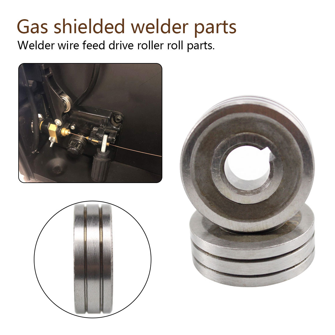 Welding Feeder Roll V U Knurl Groove 0.6mm 0.8mm 1.0mm LRS-775S SSJ-29 for Steel Aluminum Flux Cord Wire Mig Wire Feeder