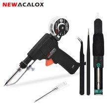 NEWACALOX – pistolet à étain 60W EU/US, machine de soudage à température réglable, machine de travail de chauffage interne portative