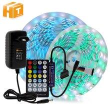 Bande de LED RGBCCT ensemble RGB + blanc chaud + blanc froid 5 couleurs LED bande 5m + 28Key RF télécommande + DC12V adaptateur secteur
