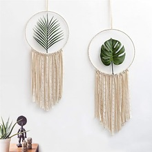 Macrame Dream Catcher Mandala Tapestry Wall Hanging ornament Hand-woven Tapestry Living Room Bedroom Wedding Decoration
