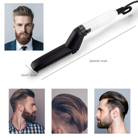 Multifunctional Hair Comb Brush Beard Straightener Hair Straighten Straightening Comb Hair Curler Quick Hair Styler For Men Lahore