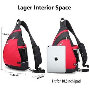 """Image 3 - Erkek kadın omuz çantaları USB şarj Crossbody çanta Anti hırsızlık göğüs çantası büyük kapasiteli 10.5 """"Ipad cep telefonu kısa gezisi çanta"""