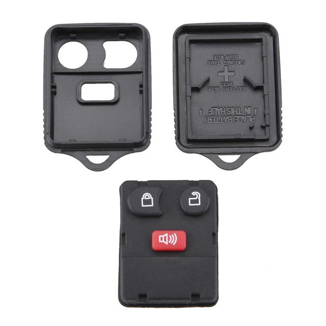 1pcs  Durable Black 3/4 Buttons Keyless Entry Replacement Key Remote Fob Shell Case fit for Ford New Style