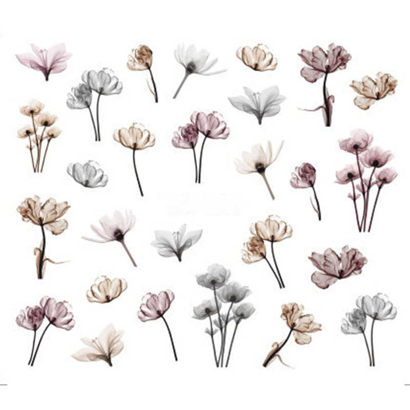 1 Sheet Jewelry Flower Water Decal Sticker For Nail Pattern Painting Wrap Paper Foil Tip Tattoo Manicure