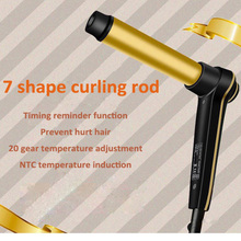 Home Wet &Dry Dual-use Perm Hair Machine Gold Curling Iron Electric Curler Styling Tool 110-220v 1pc